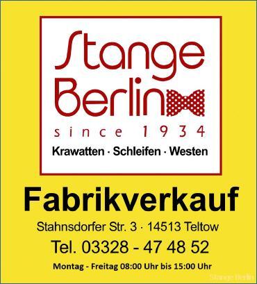 Stange Berlin Krawatten Schleifen Westen